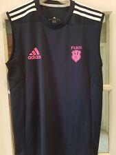 Stade Francais Rugby Adidas Training Gilet Camicia Taglia 42/44