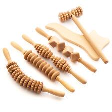 Maderotheraphie Set Anti Cellulite Massage Massagegerät Roller Massagerolle Holz