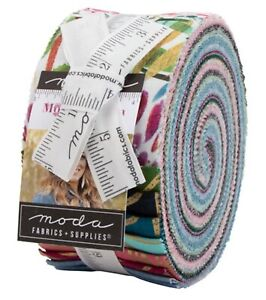"Moda, Moody Bloom, Jelly Roll, 2.5"" Fabric Quilting Strips, 8440JR, J11"