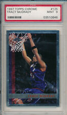 Lot of (5) Tracy McGrady 1997 Topps Chrome #125 Rookie Card rC PSA 9 Mint