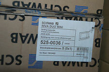 PLACA DE EMPUJE SCHWAB RIVA DUO MINI 525-0036 BLANCO PULSADOR acople 5250036