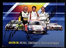 Michael Sebastiaan und Jeroen Bleekemolen Original Signiert Motorsport + G 15324