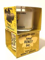 LOT 2 BATH & BODY WORKS SWEET HONEY BEE FILLED SCENTED 1.3 OZ MINI CANDLE NEW