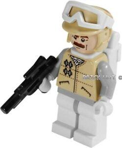 LEGO STAR WARS - HOTH OFFICER MOUSTACHE FIGURE + GUN & PACK - 8083 - 2010 - NEW