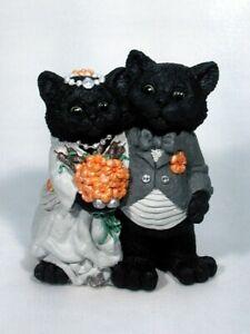Adorable Animal Black Cats Halloween Bride Groom Wedding Caketops and many more!