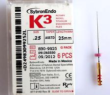 Kerr Sybron Endo K3 Niti File 25mm G Pack 6 Files