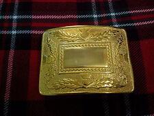 TC de luxe Chardon modèle CEINTURE BOUCLE kilt / kilt chardon écossais BOUCLE OR