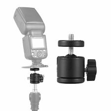 "1/4"" Tripod Mount Holder Ball Head Screw To Flash Camera Light Stand Adapter New"