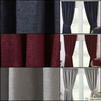 BLACKOUT Thermal LINED Tape Top Ready Made PENCIL PLEAT CURTAINS Classic Style