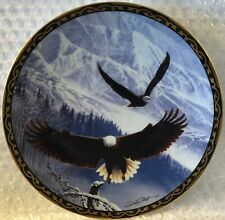 Bald Eagle Winter'S Majestic Flight Wings Of Eagles Hamilton Collection Plate