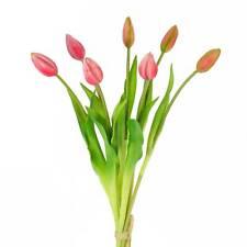artplants Künstlicher Tulpenstrauß LONA, pink-grün, 45cm, Ø20cm - Bouquet