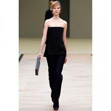 Nouveau Celine Noir Bustier Bustier Femme Taille Fr 38/UK 10 RRP £ 710.00