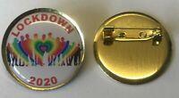 LOCKDOWN 2020 NHS Rainbow Lapel Pin Badge Nurse Doctor Key Workers Pandemic NEW