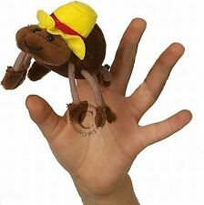 Fingerpuppe lustige Spinne mit Hut  8cm lang NEUWARE