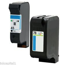 45 & 78 CARTUCHOS DE TINTA NO OEM alternativa con HP Officejet 51645AE C6578AE