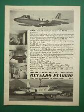 9/1970 PUB AVION RINALDO PIAGGIO PD.808 JET TRANSPORT AIRCRAFT ORIGINAL AD