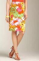 Talbots 100% Cotton Multicolor Floral Pencil Skirt Sz 16W