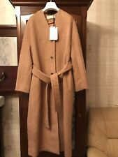 Nina Ricci Woman Alpaca Beige Coat. Size 40. Authentic. New With Tags.