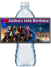 20 DISNEY DESCENDANTS 2 BIRTHDAY PARTY FAVORS Water Bottle Labels