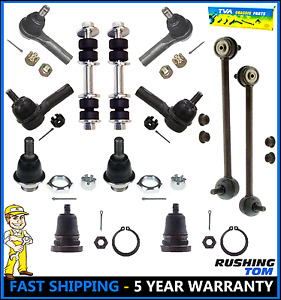 Front Rear Steering Kit Ball Joint Tie Rod Sway Bars for 2000-2004 Nissan Xterra