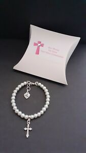 First Holy Communion / Confirmation  bracelet + cross charm + gift box