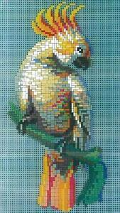 Mini Stecksystem Kakadu ca. 1.400 Teile mit XXL-Steckvorlage Nr. 42115