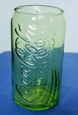 Coca-Cola Can Shaped Green Coke Glass 12 oz from McDonalds