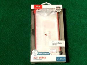 Zizo Bolt Series Motorola Moto E5 Supra/Plus Case Tempered Glass Cover w/Holster