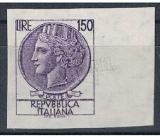 ITALIA REPUBBLICA 1976 Varietà Siracusana £150 non dentellato MNH**