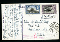 Ceylon Stamps Rare Early Card to US Postage Due Elephant Photo