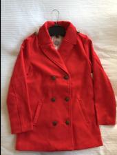 NWT OLD NAVY YOUTH GIRLS RED PEACOAT COAT JACKET SIZE 14