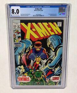 X-MEN #57 CGC 8.0 KEY! (Neal Adams cover & art, Sentinels!) 1969 Marvel Comics