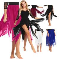 Adult Girl Women Chiffon Ballet Tutu Dance Skirt Skate Belly Dance Costume Skirt