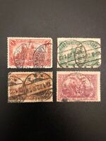 GERMANY 1920  DEUTSCHES REICH - Michel 113-115 USED STAMP SET LOT SET OF 4 (GS)