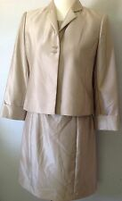 **10P** Calvin Klein Dress Suit Dress + Jacket Silky Shiny Tunick Sweater Top