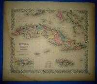 1856 TEXAS MAP TX Coleman Collinsville Colorado City Columbus Comanche Combes