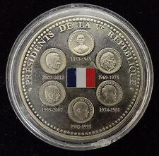 Médaille 6 Présidents de La République neuve PROOF BE