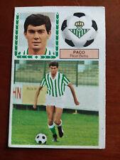 Cromo Paco Betis fichaje liga 83 84 ediciones este temporada 1983 1984 fútbol