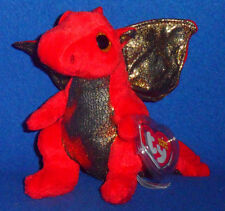 TY LEGEND the RED DRAGON BEANIE BABY - MINT with MINT TAG