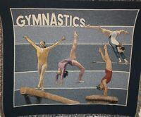 """New `Gymnastics` gym sports Tapestry Throw Blanket 48"""" X 60"""""""