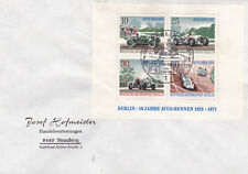 West Berlin 1971 50TH anniversary of Avus Racetrack Minisheet FDC Unadressed VGC