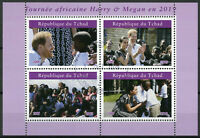 Chad 2019 CTO Prince Harry & Meghan Africa Tour 4v M/S I Royalty Stamps