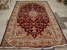 Exclusive Love Floral Medallion Area Rug Hand Knotted Wool Silk Carpet (9 x 6)'