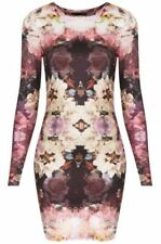 Topshop Stretch, Bodycon Polyester Floral Women's Dresses