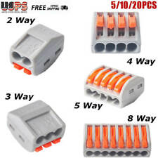 New Listing23458 Way Reusable Spring Lever Terminal Block Electric Cable Wire Connector