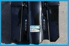 Elite Series Bullet LED Tail Lights Harley Custom Bagger Rear Fender Chrome