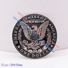 "10X Silver Morgan Dollar Eagle Replica Coin Leathercraft Concho Screwback 1-1/2"""
