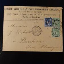 SAGE N°90/106 x2 SUR LETTRE COVER PARIS BD ST GERMAIN -> BENSHEIM ALLEMAGNE