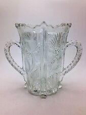 Antique Higbee Paneled Thistle Pot EAPG 1850-1910 Spooner