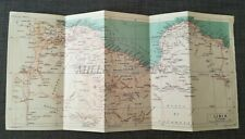 LIBIA - Cartina Geografica Pieghevole C.T.I. 1940